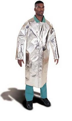 """Aluminized Fiberglass Coat 48"""" Long"""