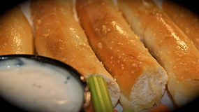 Flip'n Chicken fresh bakes their breadsticks every day to accompany their award winning wings.