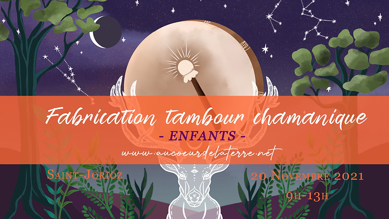 Fabrication tambour chamanique enfant