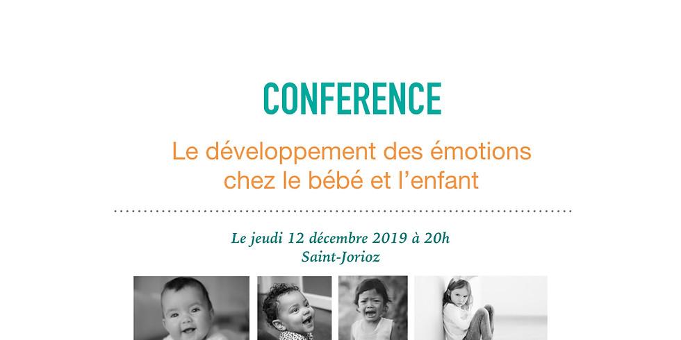 Conférence: Le développement des émotions chez le bébé et l'enfant