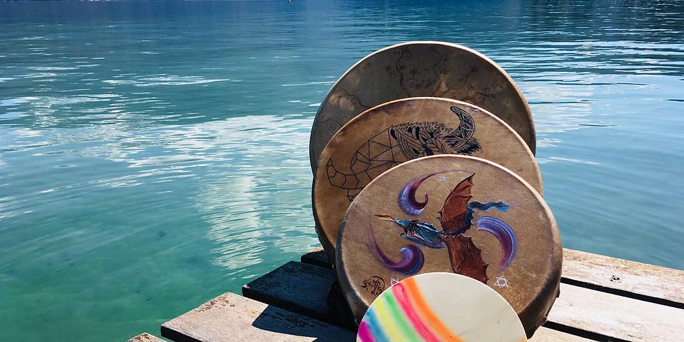 Journée fabrication tambour chamanique en Famille