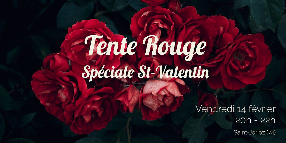 Tente Rouge Spéciale Saint-Valentin