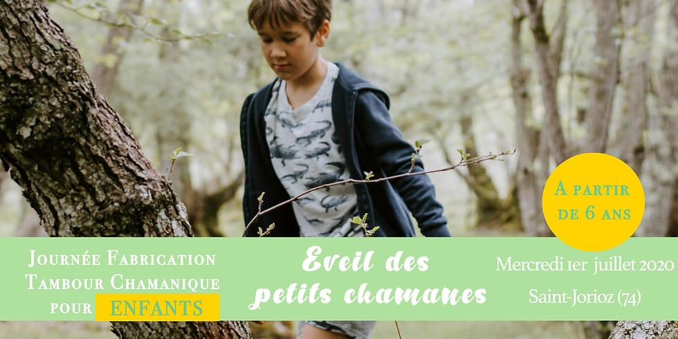 Eveil des petits chamanes: fabrication tambour chamanique enfant