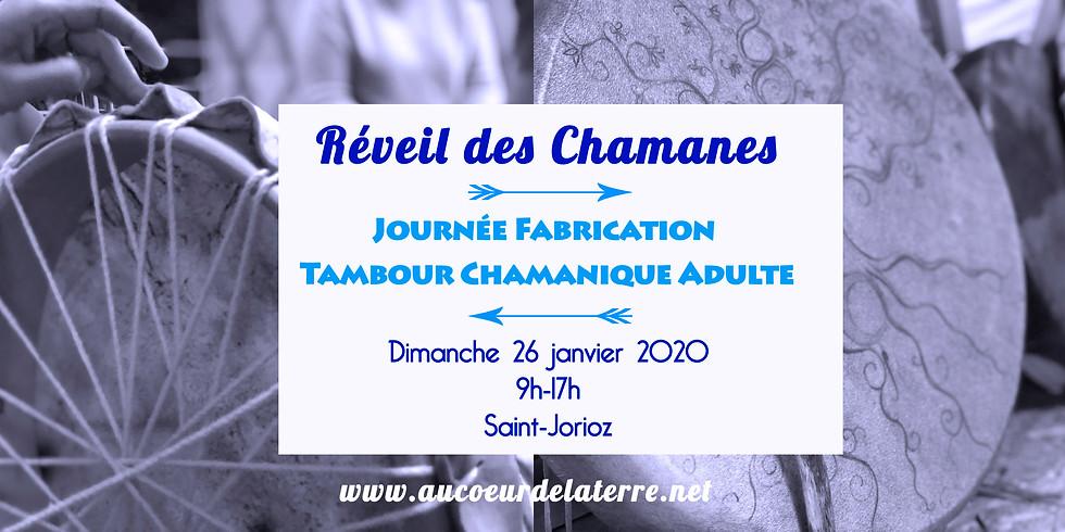 REVEIL DES CHAMANES: journée atelier fabrication tambour chamanique pour adulte 26/01