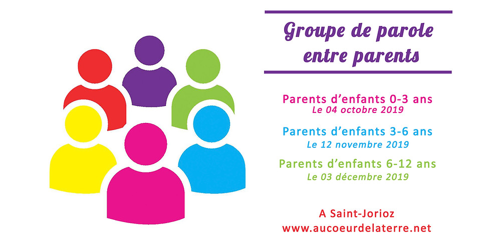 Groupe de paroles entre parents d'enfants 6-12 ans