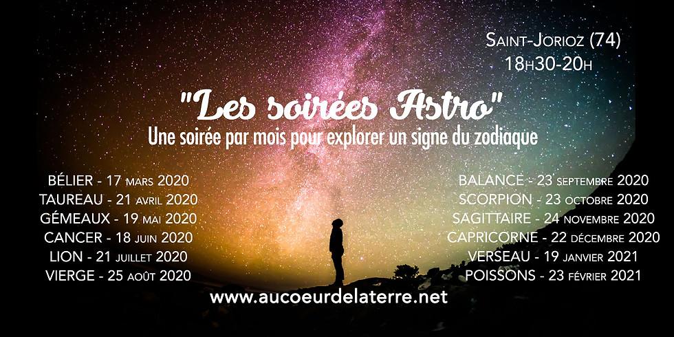 """""""Les soirées Astro"""" : une soirée par mois pour explorer un signe du zodiaque"""