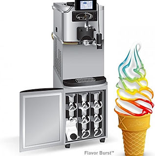 flaor burst soft serve machines and syrups