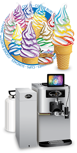 flavor burst soft serve ice cream equipment