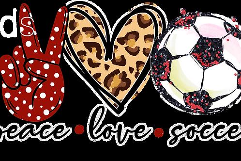 Peace Love Soccer HTV Transfer