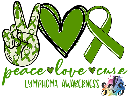Peace Love Cure Lymphoma HTV Transfer