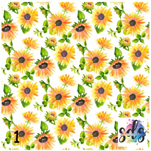 Sunflower Pattern Vinyl