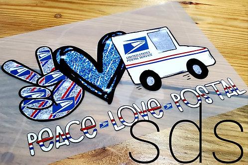 Peace Love Postal HTV Transfer