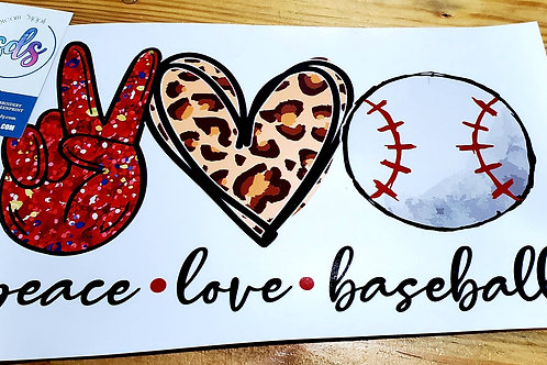 Peace Love Baseball  HTV Transfer