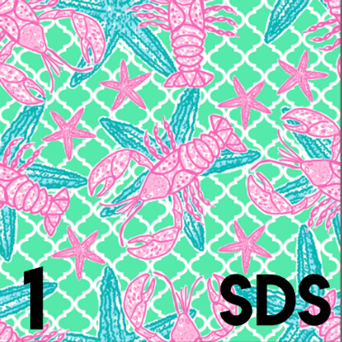 Lobsters and Starfish Pattern Vinyl