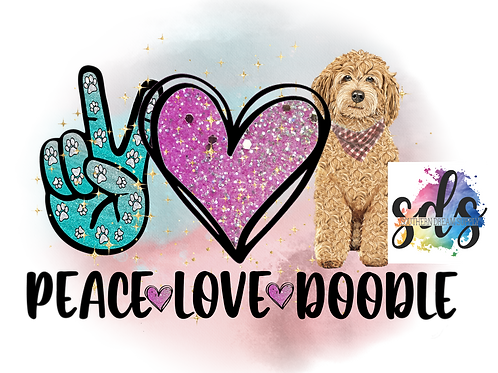 Peace Love Doodle Sublimation Transfer