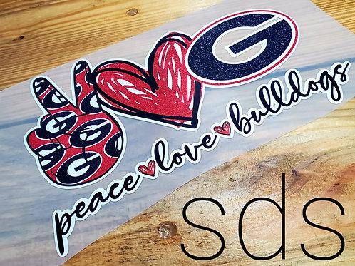 Peace Love Bulldogs Sublimation Transfer
