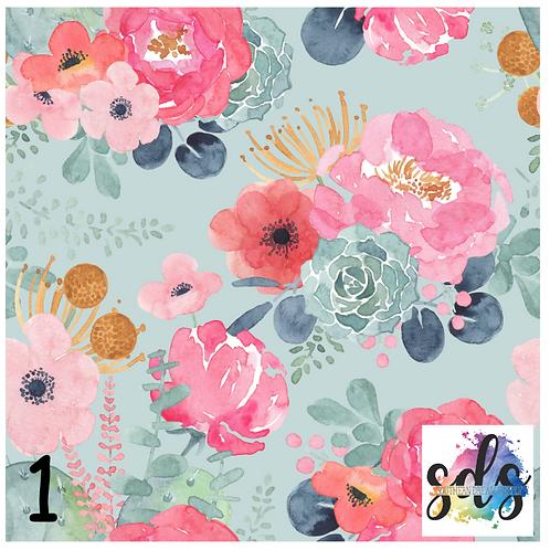 Succulent Bouquet Pattern Vinyl