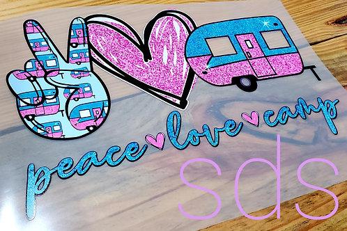 Peace Love Camp Sublimation Transfer