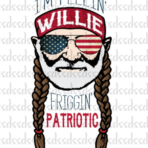 Willie Patriotic HTV transfer