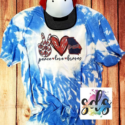 Peace Love Braves HTV Transfer