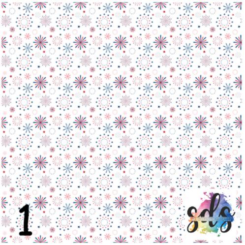 July 4th Pattern Vinyl