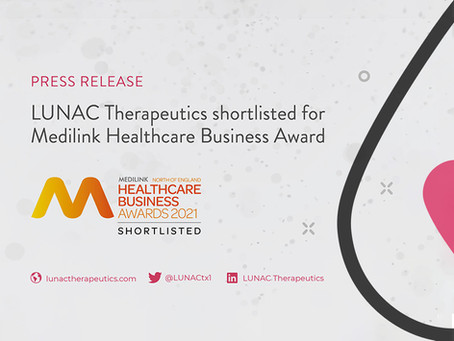 LUNAC Therapeutics Shortlisted for Medilink Healthcare Business Award