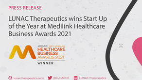 LUNAC Therapeutics wins 'Start Up of the Year' at Medilink Healthcare Business Awards