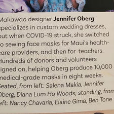 Article in Maui Nō Ka 'Oi Magazine