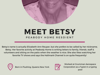 Meet Betsy, a Peabody Home Resident