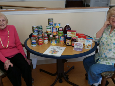 Peabody Home's Food Drive Successful!