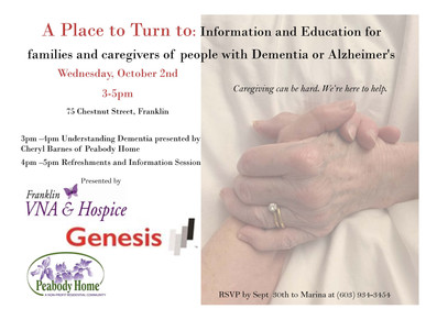 Please Join Us! Dementia Education Event