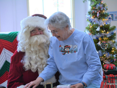 Santa's Visit to Peabody Home