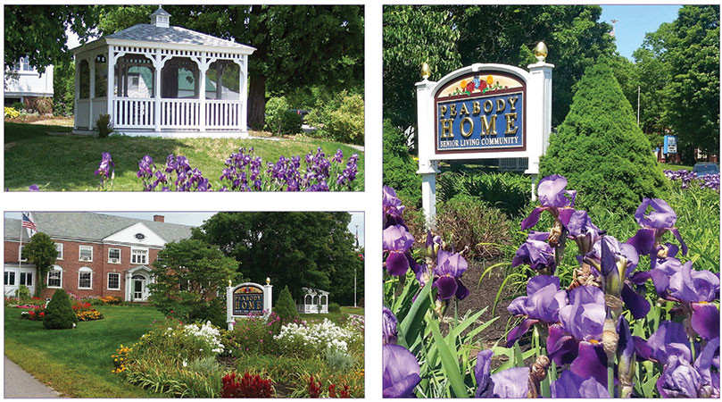 The gardens at Peabody Home.