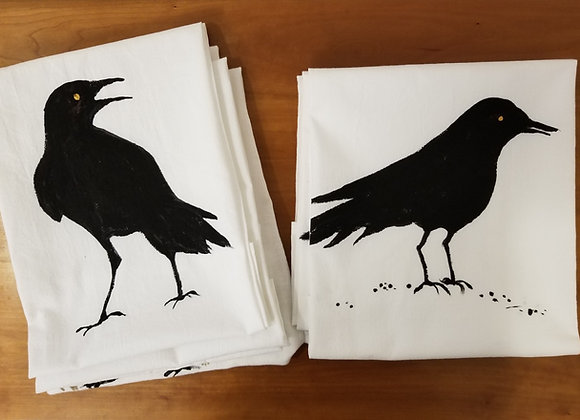 Crow flour sack towels