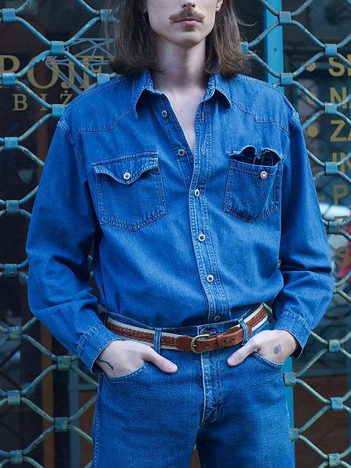 Vintage denim oversize shirt XL