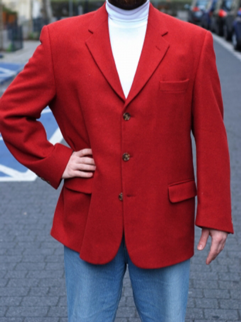 Vintage red blazer XL