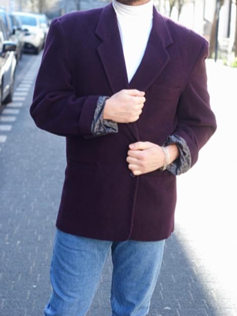 Vintage 90s purple blazer XL