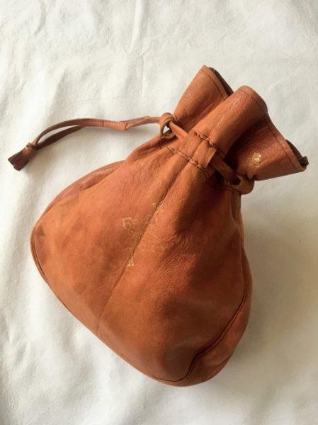 Vintage ginger leather sac