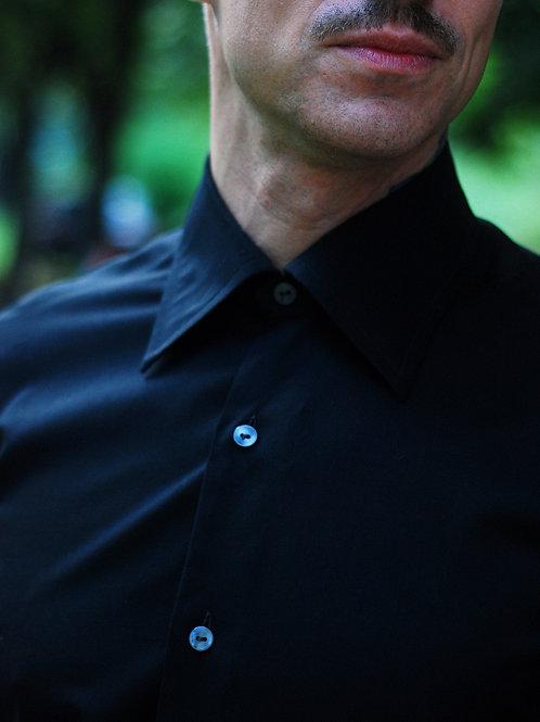 Vintage black long sleeve shirt M