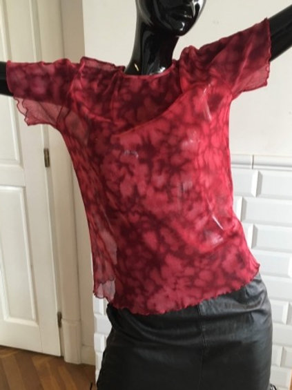 Vintage cherry meshwork tee 38