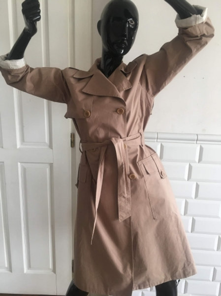 Vintage beige cotton trench-coat 40