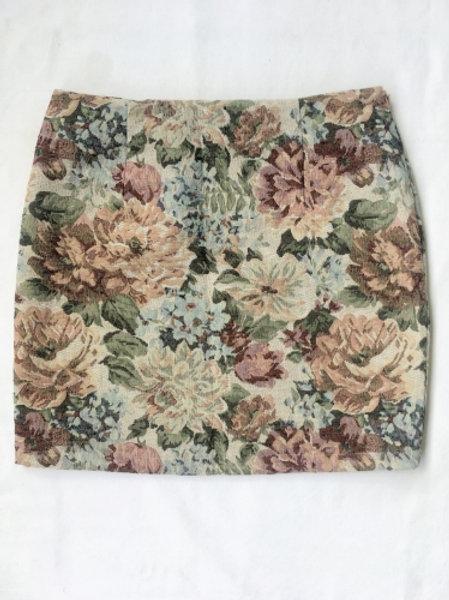 Vintage flowery mini skirt 38