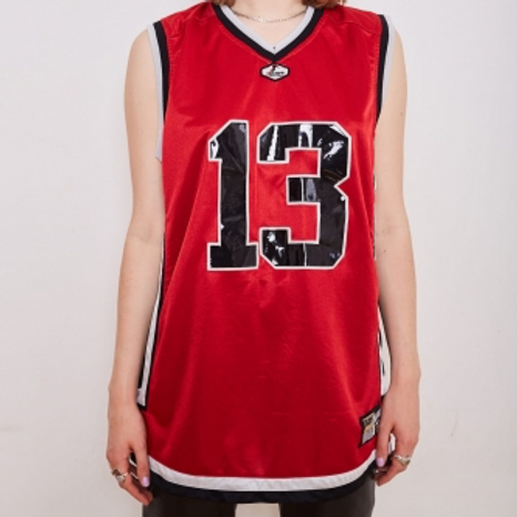 Vintage red basketball tank top  L