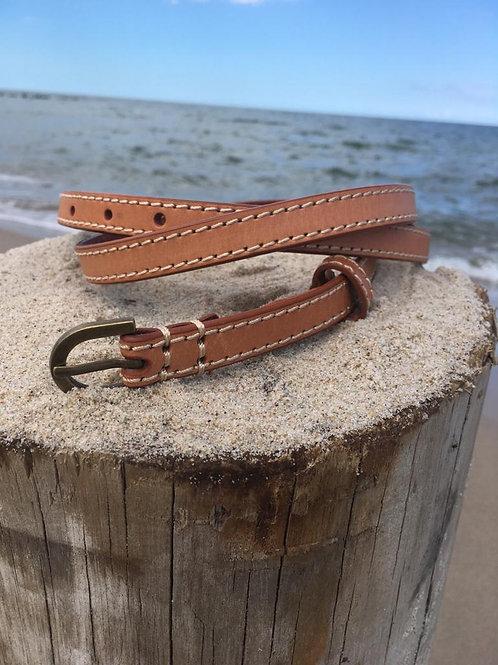 Vintage natural leather belt