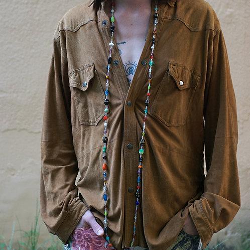 Vintage light brown suede shirt  L