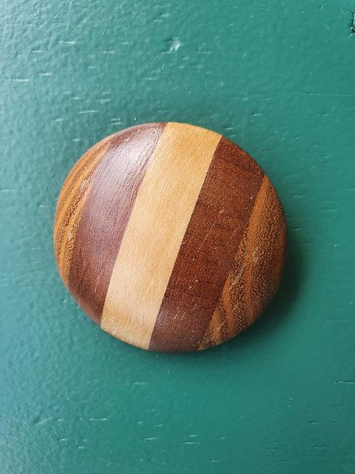 Vintage large wooden brooch