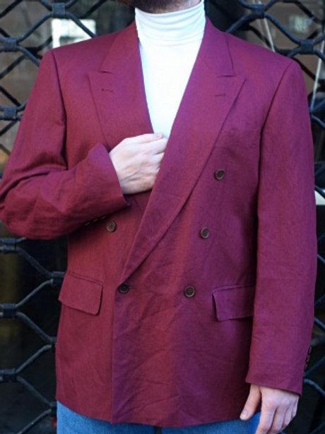 Vintage purple 80s linen blazer XL