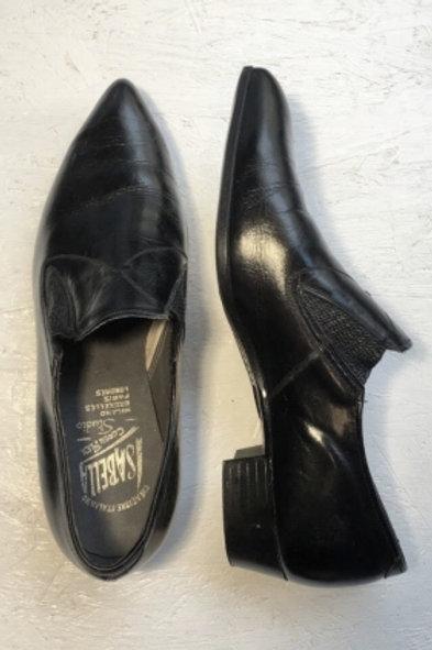 Vintage black leather shoes 41