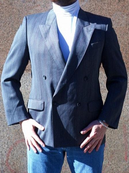 Vintage grey melange wool blazer M