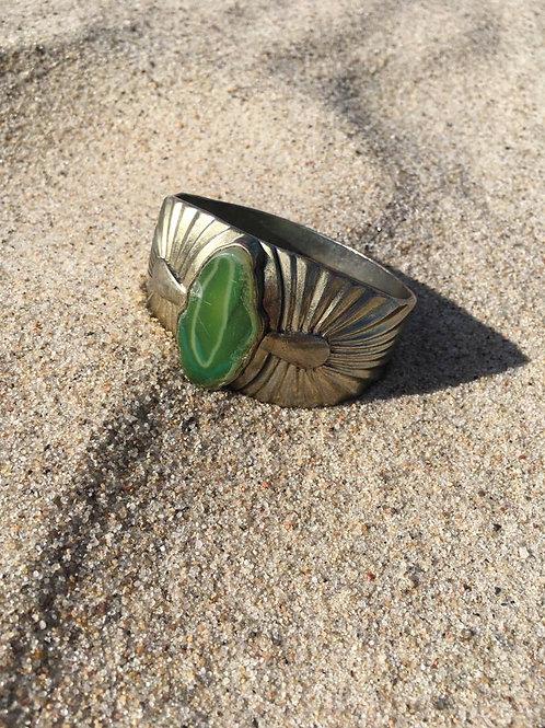 Vintage bracelet with green agate